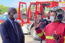 Le président Gabriel Serville a rencontré les soldats du feu de l'Ouest Guyanais pour discuter, entre autres, de leurs conditions de travail.