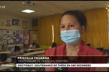 L'enseignement du tahitien, objet d'une thèse de doctorat