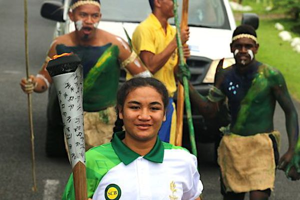 Samoa : le relais de la flamme de ces 16e Jeux du Pacifique