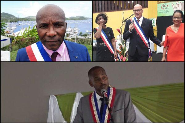 Maires élus Marin, Saint-Joseph, Diamant
