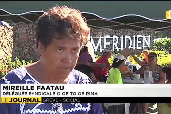 Troisième jour de grève au Méridien Punaauia