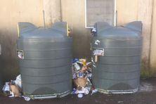 Des déchets dans les rues juste après Noël, à Saint-Pierre et Miquelon.