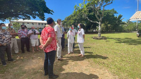Le haut-commissaire découvre la situation sanitaire de l'île soeur