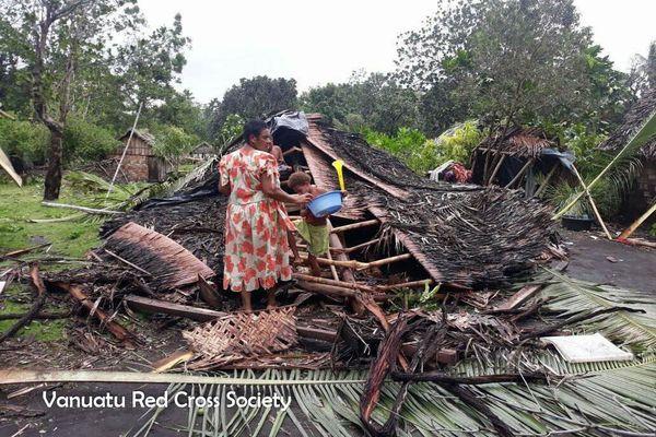 Après le cyclone Harold, à Mallicolo / Malekula, avril 2020