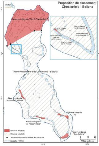 Parc de la mer de Corail, proposition de classement Chesterfield Bellona