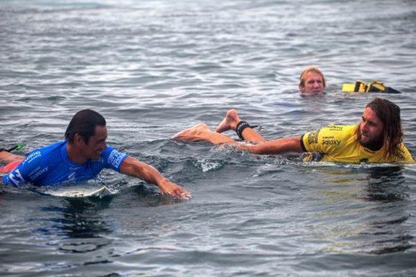 Hira Teriinatoofa et Matt Wilkinson, alors numéro 1 mondial