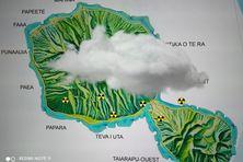 Illustration. En juillet 1974, le nuage nucléaire issu du tir aérien Centaure a également touché les îles de la Société, les plus peuplées de la Polynésie.