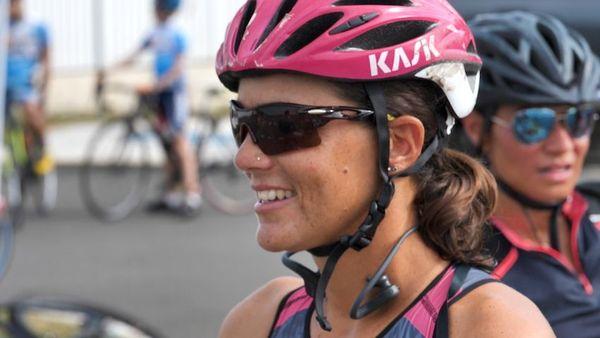 Ouverture saison 2020 de Triathlon, Charlotte Robin prête pour le contre-la-montre vélo.