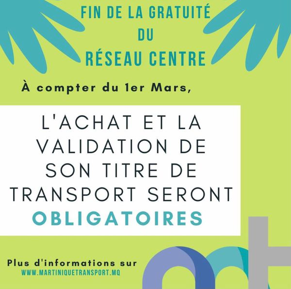 Martinique Transport / fin gratuité centre