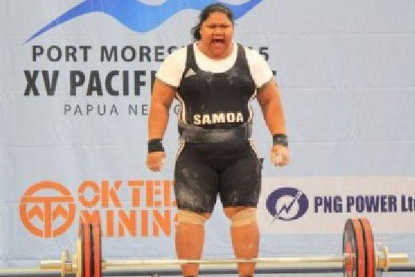 Ele Opeloge est arrivée 4ème aux J.O. de Pékin, dans la catégorie des plus de 75 kilos. Si le tribunal arbitral du sport confirme la condamnation des haltérophiles dopées, la Samoane grimperait alors sur le podium, avec 8 ans de retard. (Photo: GNS Susie