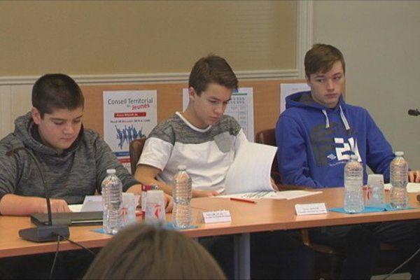 Séance du Conseil territorial des Jeunes
