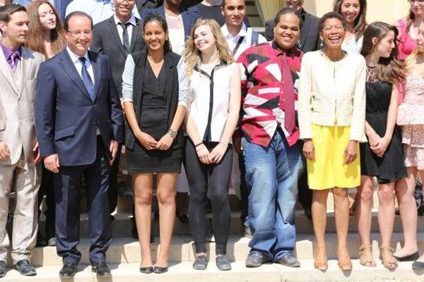 George Pau-Langevin, ministre déléguée chargée de la réussite éducative est tout sourire