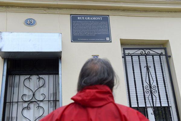Rue Bordeaux plaque explicative passé négrier
