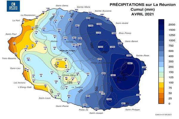 Avril 2021 peu ensoleillé pluvieux et peu frileux