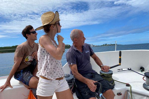 Visite à bord du voilier du Vendée globe, 22 avril 2021, Nouméa