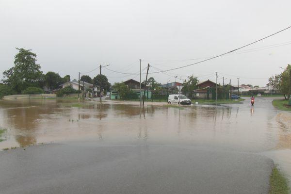 Des quartiers inondés le 7 avril à Cayenne