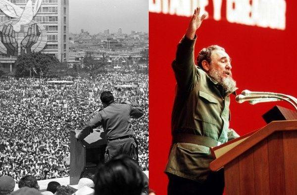 Deux discours de Fidel Castro à La Havane en 1968 et 1988.