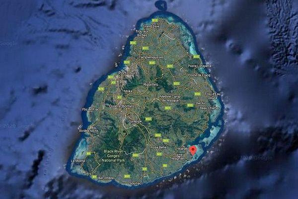 Carte de l'île Maurice juillet 2020