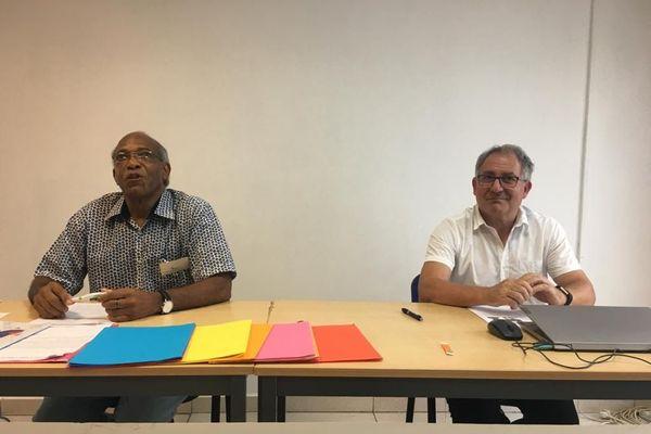 Bernard Bissol et Bernard Racanière