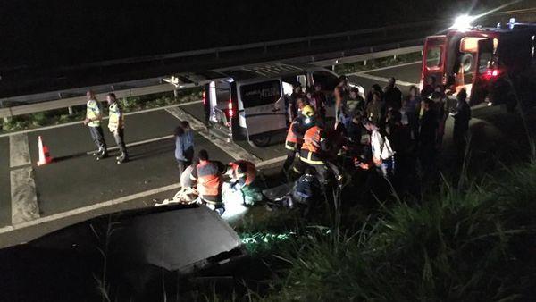 Photo accident péage Koutio bâche 26 mai 2017