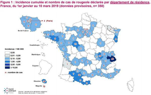 Rougeole Santé Publique France
