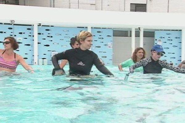 Capture aquagym piscine centre aquatique de Pouembout août 2017