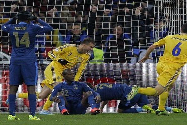 Foot défaite Ukraine France