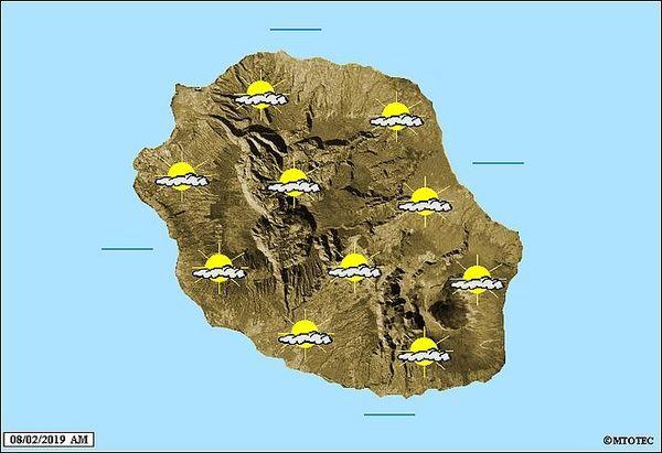 Carte météo 8 février 2019