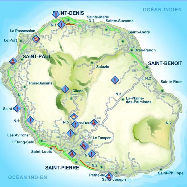 Carte des routes
