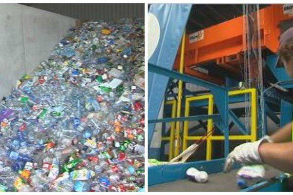 La chaîne de tri des ordures ménagères en phase test