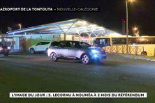 Sébastien Lecornu, ministre des Outre-mer quittant l'aéroport de Nouméa, le 5 octobre 2021.