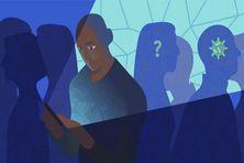 Illustration de StopCovid, l'application de traçage des personnes avec qui vous avez été en contact, afin de les prévenir si vous êtes testé positif à la Covid-19.