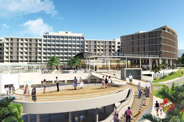 Un bâtiment du nouveau CHU Sud de Saint-Pierre a été livré.