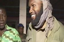 Thierry Dol, amaigi mais en forme d'après la photo prise quelques heures après sa libération.