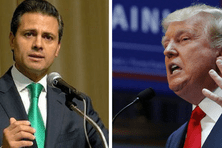 A gauche, Enrique Peña Nieto, président du Mexique. A gauche : Donald Trump, président des Etats-Unis