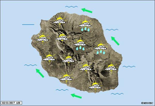 Carte météo lundi 2 novembre 2017