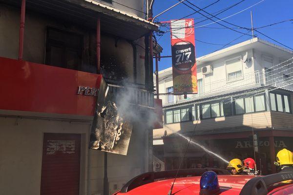 incendie dans un restaurant du centre ville de saint denis