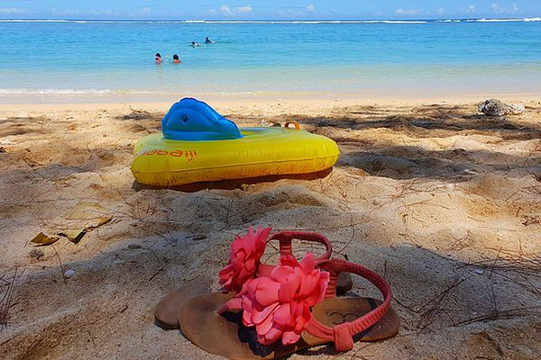 Soleil et ciel bleu sur la plage de l'Ermitage 10 03 2021