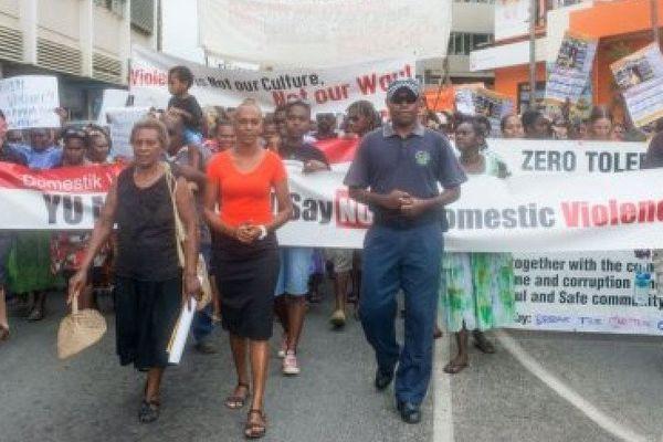 Vanuatu manif anti violence faites aux femmes.