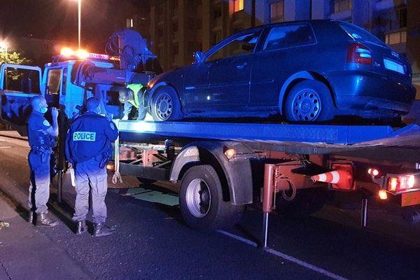 Controle routier forces de l'ordre police Saint-Denis 090721