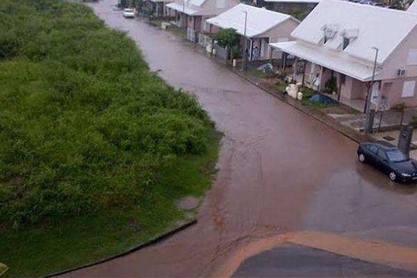 Rivière Pilote inondé