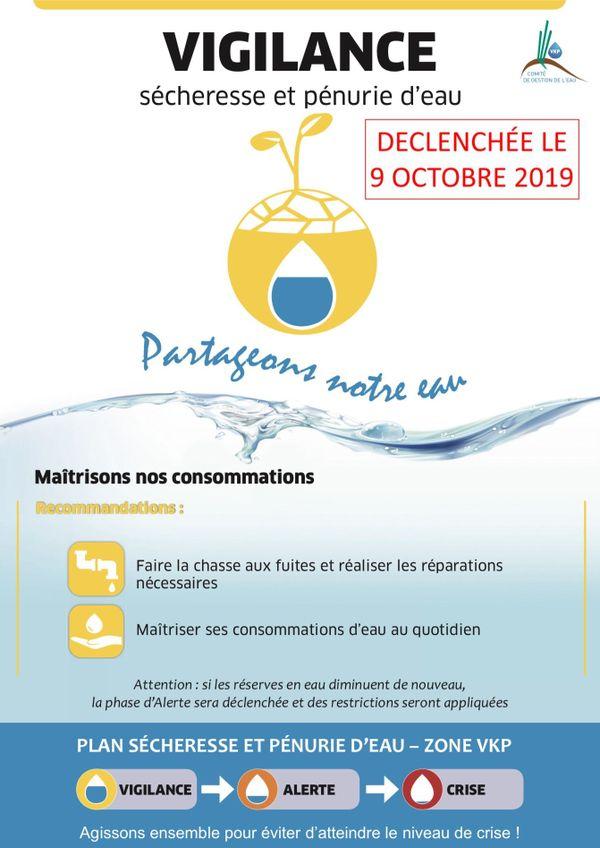 Affiche plan sécheresse VKP