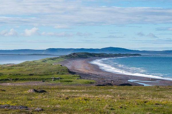 L'isthme sableux de Miquelon-Langlade