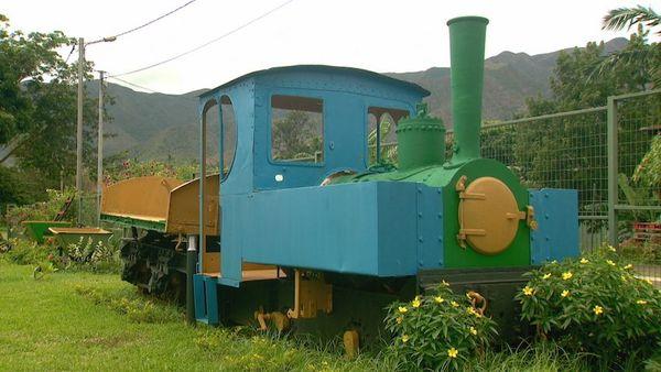 Thio, musée de la mine, locomotive, février 2020