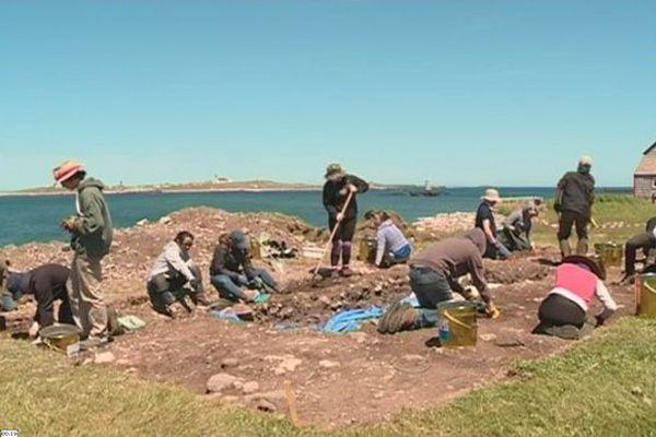 Fouilles archéologiques à l'Anse à Bertrand