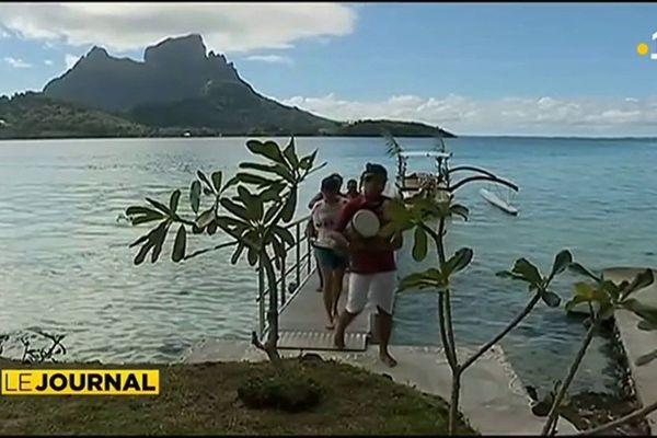 Sur un motu à Bora-Bora : pour le plus grand plaisir des touristes