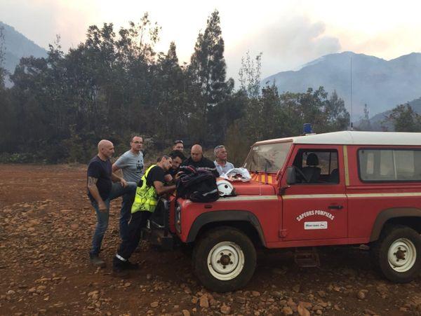 Feu de La Coulée : point entre la sécurité civile, la mairie du Mont-Dore, ses pompiers et le WWF.