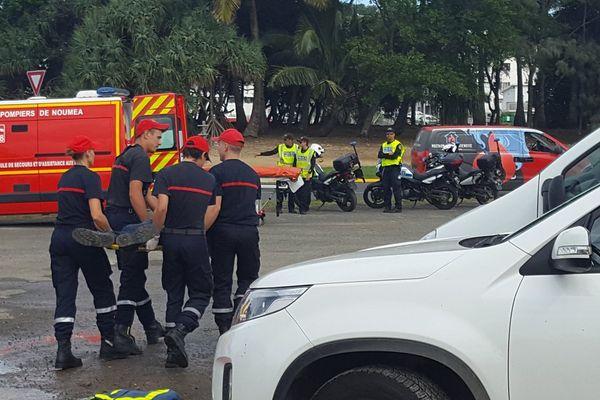 Intervention pompiers exercice EEC Magenta 2 (14 juin 2017)