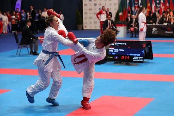Karété Emma Elisabeth championne d'Europe de Karaté Jeunes Juniors Budapest 080220