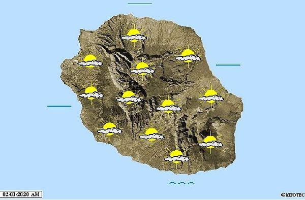 Carte météo 2 janvier 2020